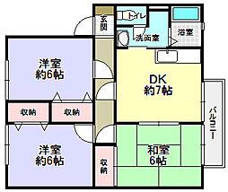 サンガーデン栄 A[1階]の間取り