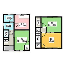 [一戸建] 愛知県犬山市富岡新町3丁目 の賃貸【/】の間取り