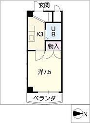 メゾン・ド・トウカイ[3階]の間取り