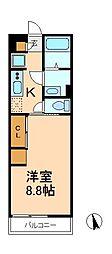 千葉県松戸市常盤平2丁目の賃貸マンションの間取り