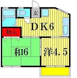 富士ハイツ[1階]の間取り