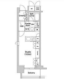 JR山手線 代々木駅 徒歩5分の賃貸マンション 14階ワンルームの間取り