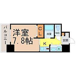 AXIS桜通内山[906号室]の間取り