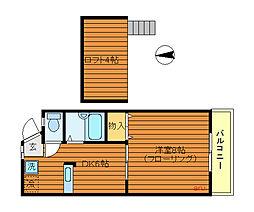 東京都武蔵野市吉祥寺南町3丁目の賃貸アパートの間取り
