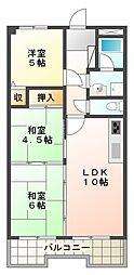 ドムールコスモス福田[2階]の間取り