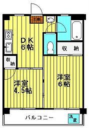 橋本ビル[501号室号室]の間取り