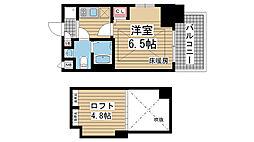 エステムコート神戸・県庁前Ⅳグランディオ[5階]の間取り