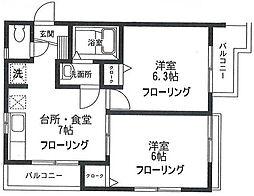 泉区和泉中央北1丁目 ルマ リアン202号室[2階]の間取り
