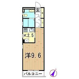エストゥペンド 08[203号室]の間取り