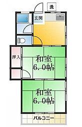 東京都江戸川区中葛西7丁目の賃貸アパートの間取り