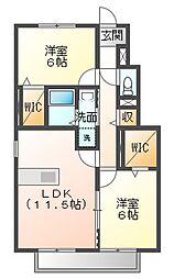 ソレーユ 102[1階]の間取り