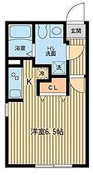 東京都渋谷区本町6丁目の賃貸マンションの間取り