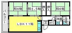 筑紫ビル[1階]の間取り