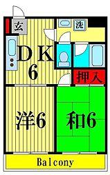 レジデンス金子[1階]の間取り