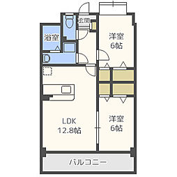 ラフィーク永松[3階]の間取り