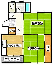 都府楼12棟[1235号室]の間取り
