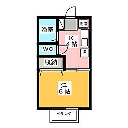 ロイヤル上水戸[1階]の間取り