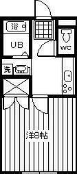 サンライズ岸田2003[203号室]の間取り