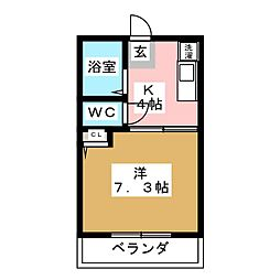 シスターグリーンマンション[2階]の間取り