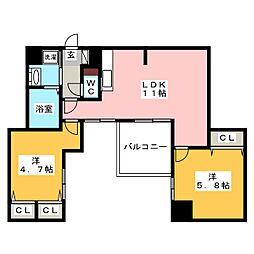 modern palazzo 姪浜 ルレイル[4階]の間取り