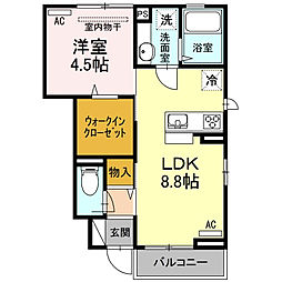 東京都板橋区小茂根3丁目の賃貸アパートの間取り