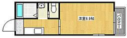 JR山陽本線 舞子駅 バス12分 学園正門前下車 徒歩3分の賃貸アパート 2階1Kの間取り