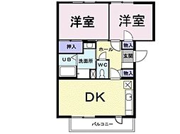 プレンティナカヤマ[3階]の間取り