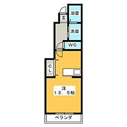 メゾンSMILE II[1階]の間取り
