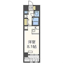 プレサンス東本町VOL2[4階]の間取り
