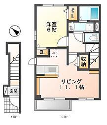 フェリーチェ II[2階]の間取り