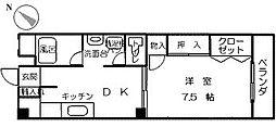 第5よしみビル[606号室]の間取り