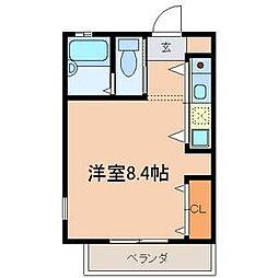 千葉県船橋市海神3の賃貸アパートの間取り
