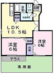 大阪府高石市取石2の賃貸アパートの間取り
