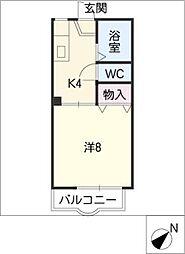 カーサ江島II A棟[2階]の間取り