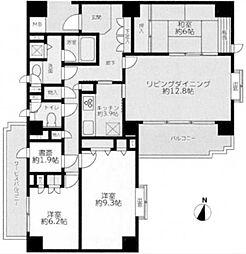 三ツ沢ガーデン山ヒルズ[8階]の間取り