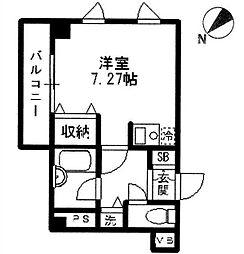 神奈川県横浜市神奈川区片倉1丁目の賃貸マンションの間取り