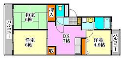 プランドールヤマダ[3階]の間取り