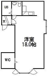 西町N15[303号室]の間取り
