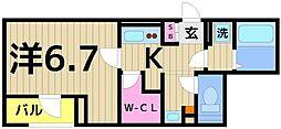 東京都足立区千住4丁目の賃貸マンションの間取り
