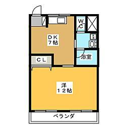 コーポ牧田[3階]の間取り