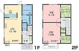 [テラスハウス] 青森県八戸市田向1丁目 の賃貸【/】の間取り