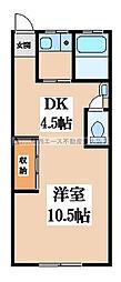 飯堂マンション[3階]の間取り