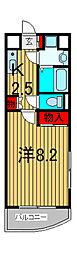 埼玉県さいたま市南区文蔵2-の賃貸マンションの間取り