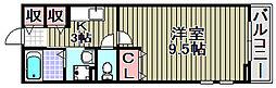 ヴィラキックスフロント2[107号室]の間取り