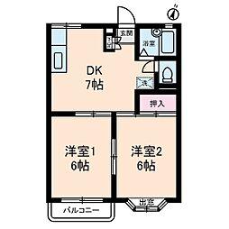 サンハイツ(板橋区)[2階]の間取り