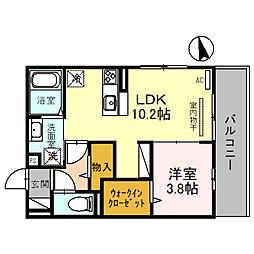 (仮称)D-room住吉 2階1LDKの間取り