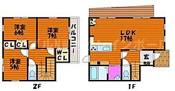 [一戸建] 香川県高松市十川東町 の賃貸【/】の間取り