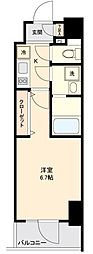 仙台市営南北線 勾当台公園駅 徒歩9分の賃貸マンション 8階1Kの間取り