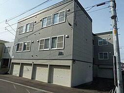 北海道札幌市白石区平和通6丁目南の賃貸アパートの外観