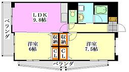 メゾンIII[5階]の間取り